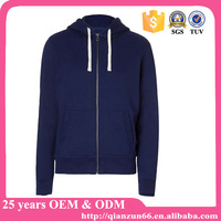 Quality no name thick wholesale plain zip hoodies