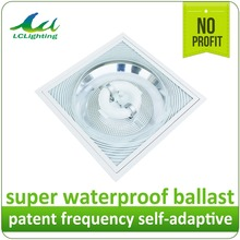 CL004 80W Office Ceiling indoor electrodeless light fitting magnetic light Glass PC reflector