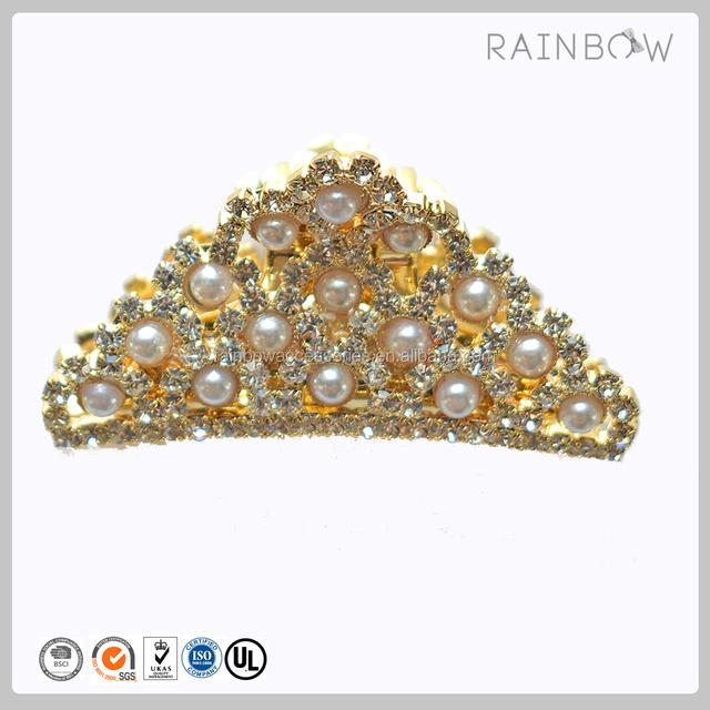 Wedding Hair Accessories Metal Crystal Hair Claw Clip Pearls Claw Clip