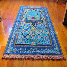 Muslim Vivid Woven Patern Cheap Prayer Rug/Mats