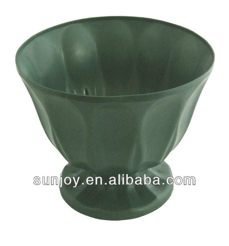 ikebana pot green plastic