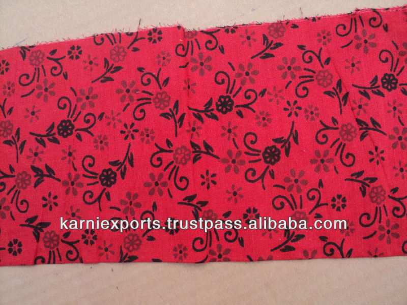 RED & BLACK COTTON FABRICS PRINTED ETHNIC VINTAGE TOUCH WORLDFAMOUS FABRICS FOR MAKING GARMENTS FOR WOMENS GIRLS & KIDS HOME TEX