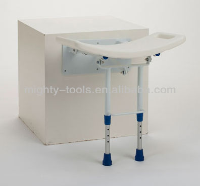 Bathroom: For elderly people/White Shower chair/Stool/Seat