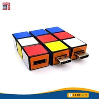 Creative ABS material custom logo Rubik's Cube usb flash drive Rotating magic cube pen drive toy flash usb