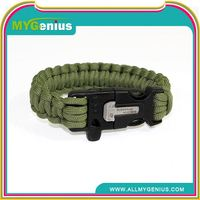 paracord bracelet with beads ,H0T047 survival bracelet with compass