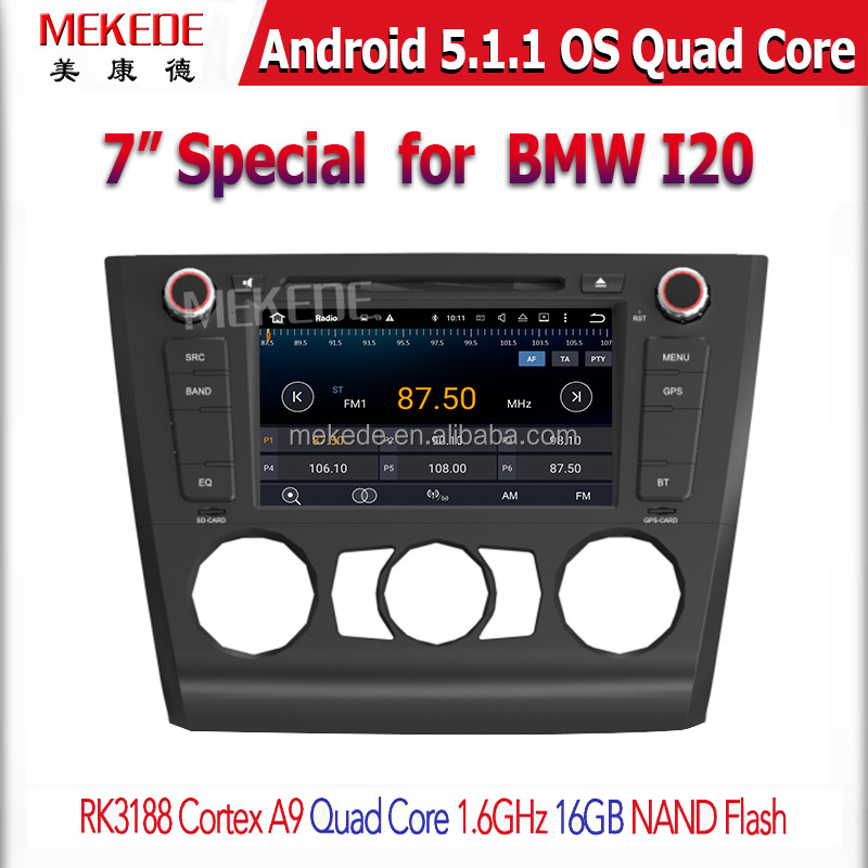 MEKEDE Quad-Core Android5.11 car gps navigatr for BM/W I20 Manual air conditioning Lowest Price Sale
