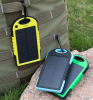 Universal Solar Power Bank Waterproof 5000mAh Polymer Dual-USB Outdoor Travel Charger for iphone for Samsung