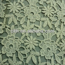2014 new embroidery design 100 cotton lace fabric