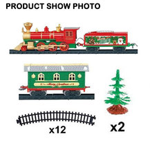 Kid Electric Toy Train Sets Christmas Model Train Toys Set