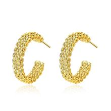 Fashion Exaggerated Big Gold Bamboo Hoop Earrings Personalized with Simple Gold Earring Designs For