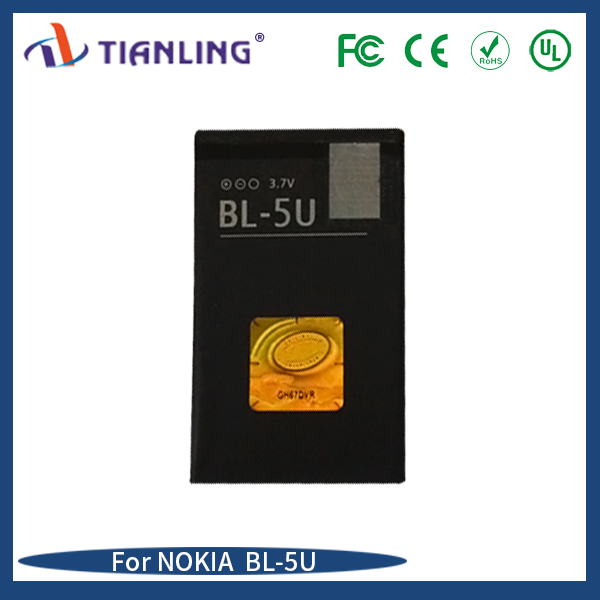 Mobile phone battery BL-5U Li-ion 1000mAh factory wholesale for Nokia 8900E