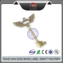 Wholesale Promotion Cheap Keyring Type Anf Antique Style Custom Wings Souvenir Vintage Metal Keychain