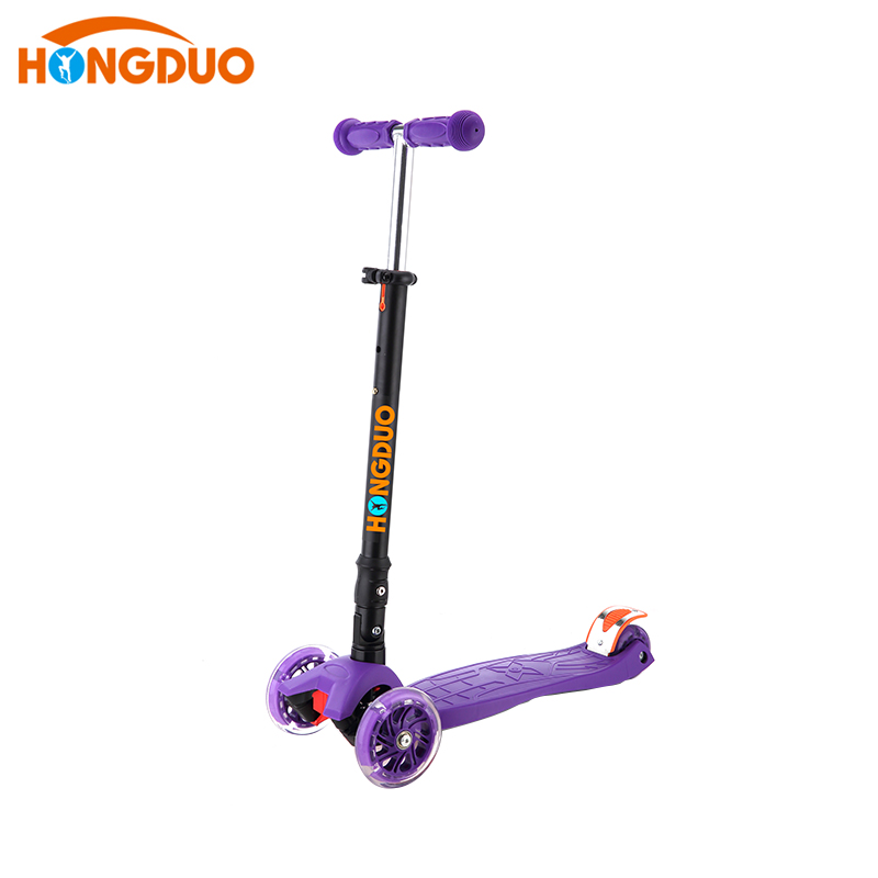 HONGDUO Superior quality PU 3 wheels Kids Foot kick Scooter for sale