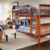 Dorm Wood Furniturem Solid Wood Plank Bunk Bed With Stairs
