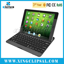 New arrival For iPad Air Aluminum Bluetooth Keyboard with stand function