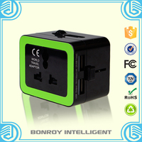 5% Discount Wholesale multi electrical world promotional gift items Multi plug travel adapter