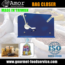 Food packer metal bag closer for cookies and candy
