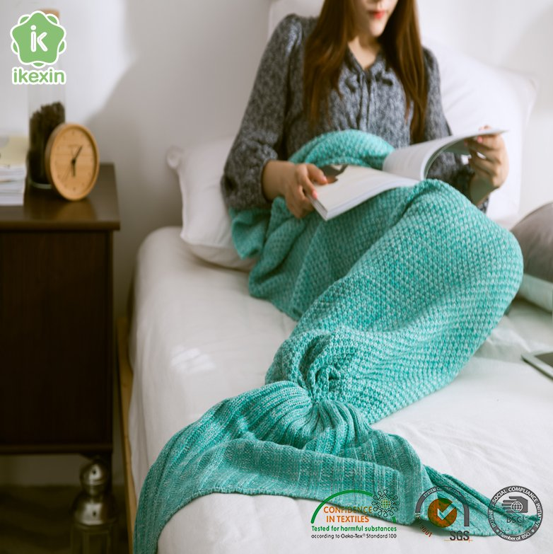 Hot Sale Plush Mermaid Tail Blanket For Kids For Adults