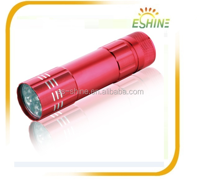 2017 Chinese High Power 9pcs Super Bright Common LED Torch Rechargeable Aluminium Flashlight