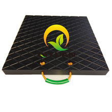 black hdpe plastic crane pads /solid plastic Anti Slip Outrigger Pads , HDPE light weight Mobile Crane Outrigger Pads