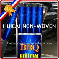 100% polyester anti-oil and flame resistant non stick bbq grill mat on line shopping