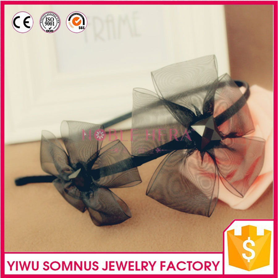 bowknot butterfly shaped hair bands WITH rhinestone centered headband