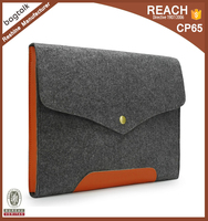 Bagtalk FB0067 Wholesale High Quality Fashion Designed Computer Bag Felt Leather 17.3 Laptop Sleeve Case