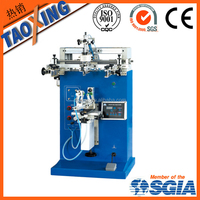 factory direct sale single color round screen printing machine for bottle