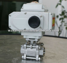 motorised SS ball valve with mounting pad