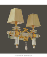 crystal brass wall lamp for living room/hotel WL51225-2