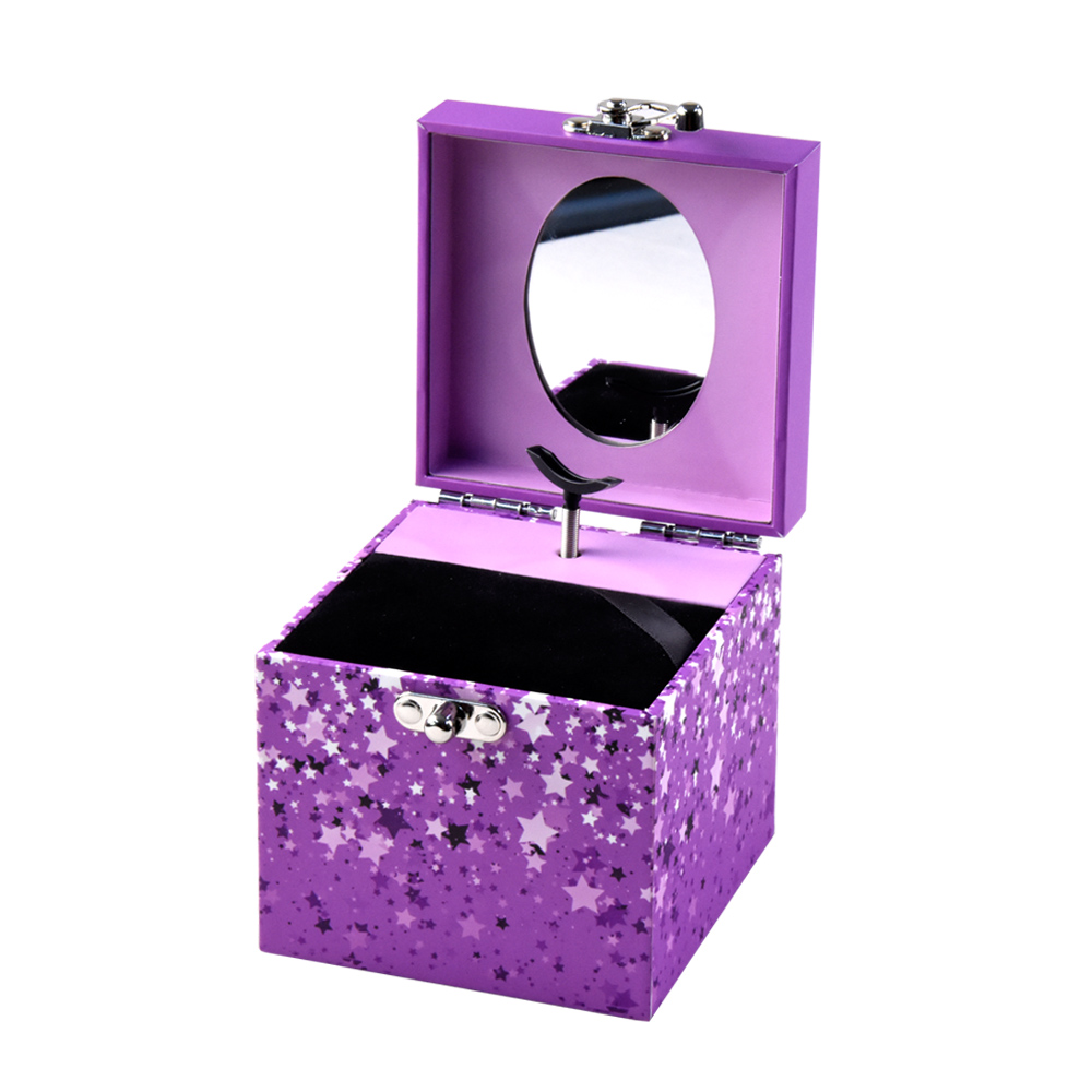 Custom Hot-sale Ballerina Doll Musical Jewelry Box for Girls Gift foldable jewelry organizer
