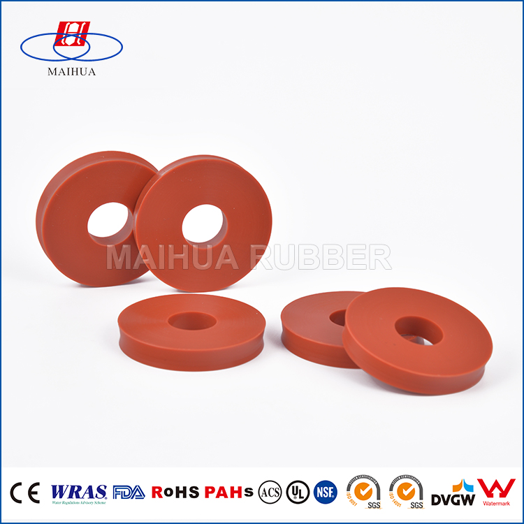 FDA Certification Food-grade Silicone Red Rubber Gasket