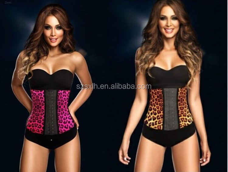 Body Shaping Slimming Belt Corset Leopard Grain Waist sexy bra panty set images