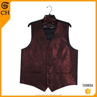 Men's Padded Silk Sleeveless Shinning Vest Coat for Men