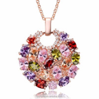 1 piece MOQ zircon pendant new designs gold chain necklace