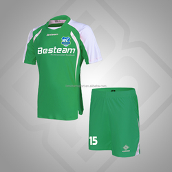 Green / White OEM Service children wholesale soccer uniforms