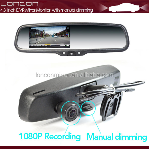 1080P DVR Auto dimming compass rearview mirror special for subaru,ford, mazda, nissan