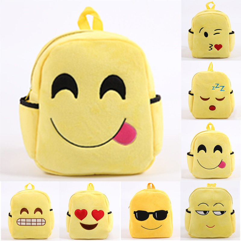 Wholesale Kids New Model Emoji School Bag Backpack For Girls