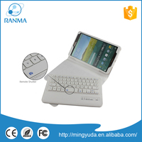 Flip Stand leather bluetooth keyboard case for samsung