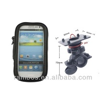 Water Poof GPS Phone Case Motorcycle Bike Handlebar Mount Holder for 5 Inch Smart Phones