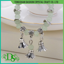 Simple fashion bead charm zinc alloy metal bracelet wholesale