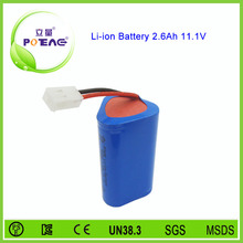 3s1p 18650 li-ion 12v 2600mah battery