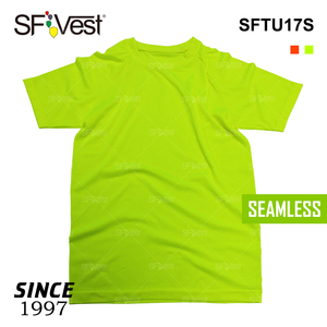 Manufacturer customize 100% polyester blank crew t shirt with seamless for men