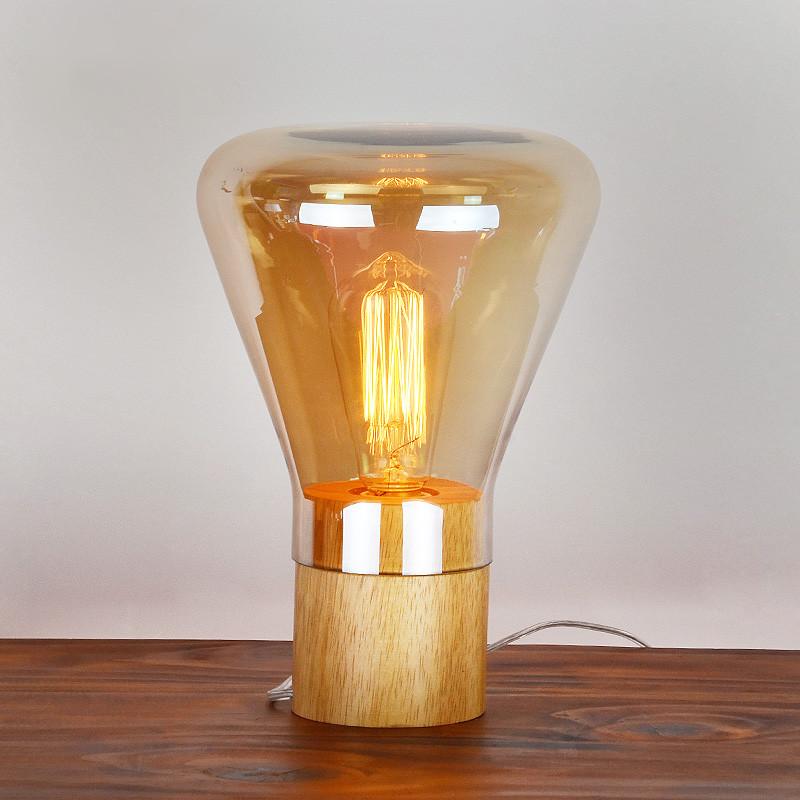 moderne tischlampe dekoration aus holz tischleuchten ...