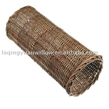 round shaped willow wicker Pet carry Tube