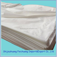high quality plain 100% cotton bleached white fabric