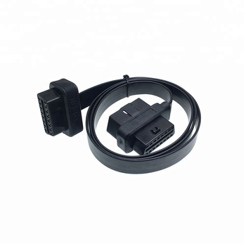 Factory 16PIN Male to Female Flat GPS Tracker OBD2 Extension Cable