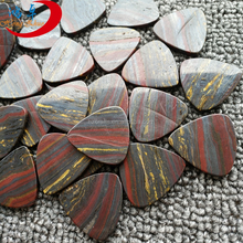 2017 Musical Instruments And Accessories Natural Semi Precious Stone Iron Tiger String Instrument Custom Guitar Picks