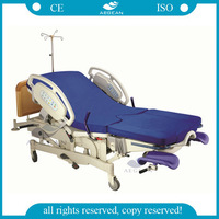AG-C101A04 CE&ISO approved electric adjustable Low Starting Position labor and delivery beds
