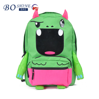 2016 new fashion waterproof cute 600D kids cartoon backpack with animal pattern kids backpack 3d cartoon backpack